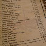 """Die Speisekarte von """"la Zattera"""""""