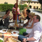 Italienisches Essen im La Palazzina Palaia