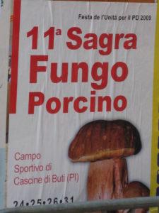 Steinpilz Feste oder auch Sagra genannt im Herbst in der Toskana