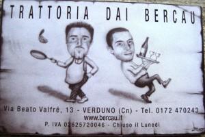 typische Trattoria Dai Bercau im Piemont