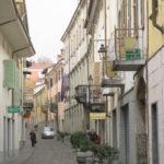 Innenstadt Bra Piemonte im November