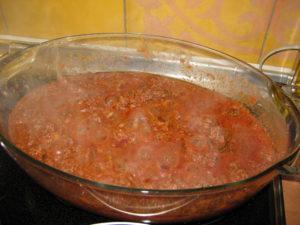 italienisches Rezept Wildschweinhack mit Bandnudeln