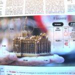 Berlusconi Angriff - Miniatur Statur des Mailaender Doms