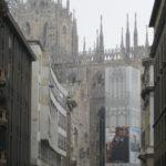 Mailand im Januar grau in grau bei 0 Grad