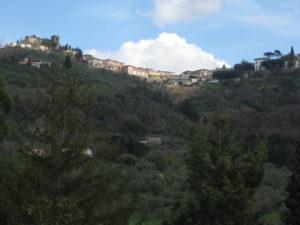 Montecatini Terme Toskana Blick aus dem Restaurant