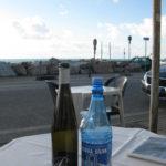 im Freien Mittagessen in der Toskana im Februar