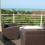 Blick aufs Meer vom Il Tombolo Hotel an der toskanischen Kueste