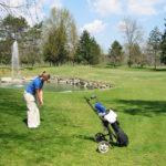Golf im Piemont bei Cherasco im Fruehling