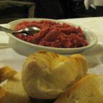 traditionelles Gericht im Piemont Carne Cruda