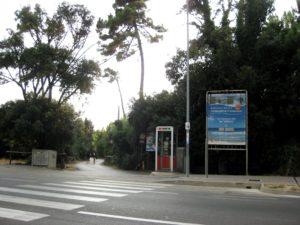 Eingang zum Strand  Tirrenia