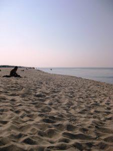 Strand Toskana Tirrenia bei Pisa im September